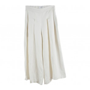 Schon Couture Off White Culottes Pants