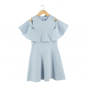 Zara Blue Off Shoulder  Mini Dress