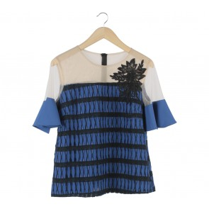 Marissa Blue And Black Lucy Blouse