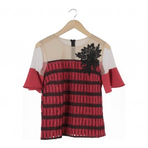 Marissa Red And Black Lucy Blouse