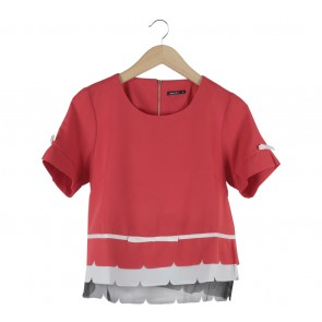 Marissa Red Ribba Blouse