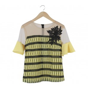 Marissa Yellow And Black Lucy Blouse