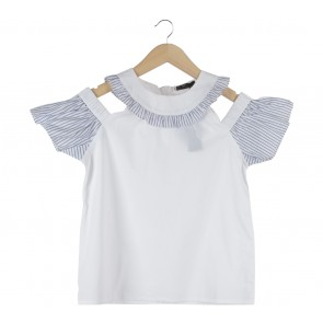 She´s White And Blue Ivy Blouse