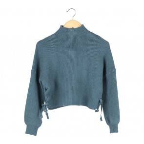 Blue Cropped Sweater