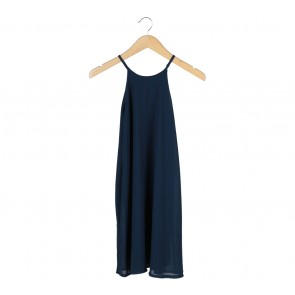 Dark Blue Sleeveless Mini Dress