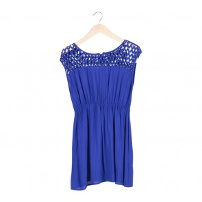 Blue Studded Mini Dress