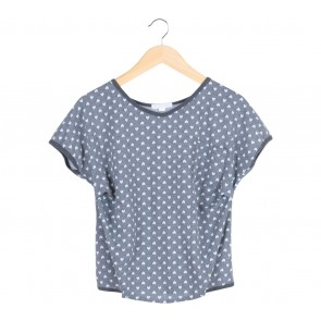 Grey Heart Pattern Blouse