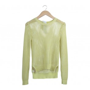 BCBGeneration Yellow Knit Sweater
