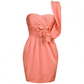 Robert Rodriguez Peach Midi Dress