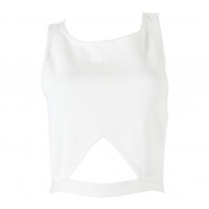 Forever 21 Off White Cut Out Sleeveless