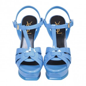 Yves Saint Laurent Blue Sandals