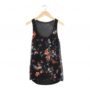 Express Black Floral Sleeveless