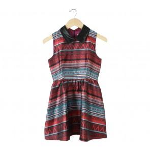 ELF SACK Multi Colour Tribal Mini Dress
