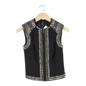 H&M Black Beaded Vest