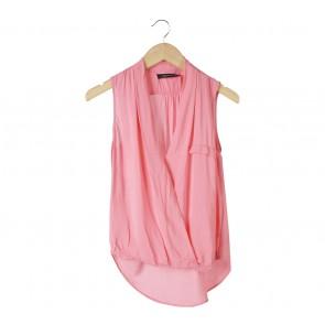 Zara Pink Wrap Sleeveless