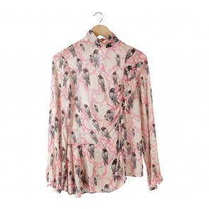 H&M Multi Colour Bird Blouse