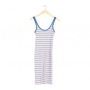 Zara Multi Colour Striped Midi Dress