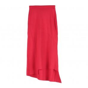 Zara Red Asymetric Midi Skirt