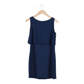 H&M Blue Layer Sleeveless Mini Dress