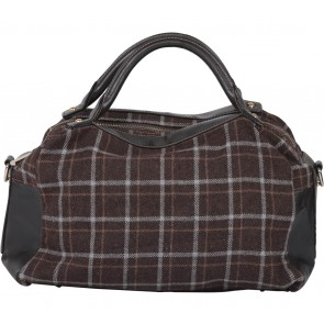 Charles and Keith Brown Plaid Handbag