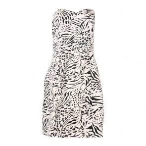 H&M Pink And Black Tube Mini Dress