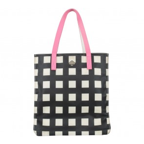 Kate Spade Black And Cream Alissa Tote Bag