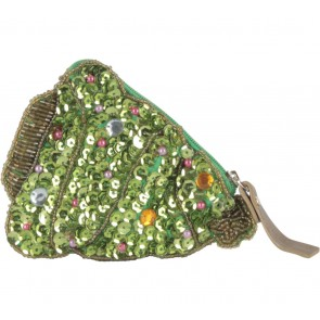 Kate Spade Green Sequins Pouch