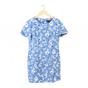 New Look Blue Floral Mini Dress
