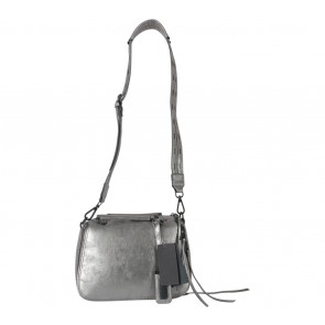 Steve Madden Silver Basport Saddle Pewter Sling Bag