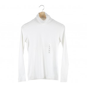 UNIQLO Off White Turtle Neck T-Shirt