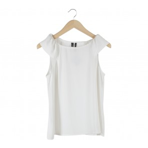 Mango Off White Sleeveless