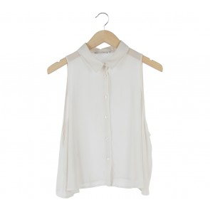 New Look Cream Sleeveless