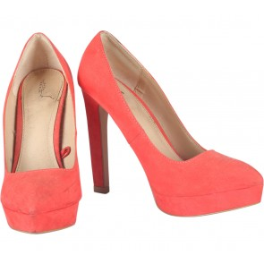 Zara Red Platform Heels