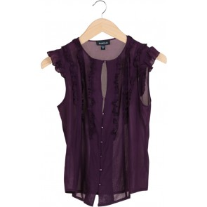 Purple Ruffled Top