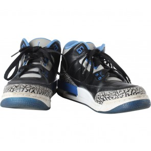Nike Black And Blue Air Jordan 3 Retro Sneakers