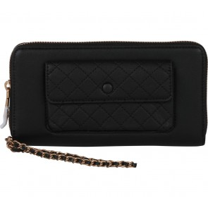 Charles and Keith Black Pocket Chain Wallet