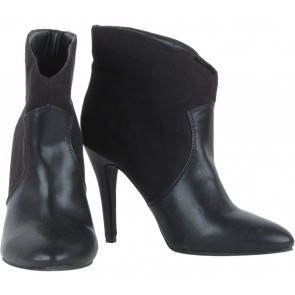 Forever 21 Black Combi Leather Boots
