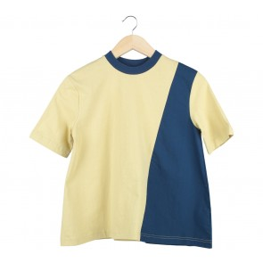 Pomelo. Dark Blue And Yellow Blouse