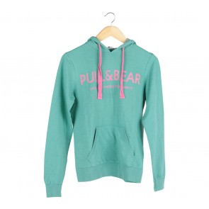 Pull & Bear Green And Pink Sweater