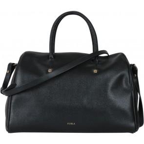 Furla Black Bowler Handbag