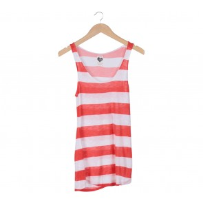 Zara Orange And White Sleeveless