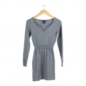 Mango Grey Rubber Waist Mini Dress