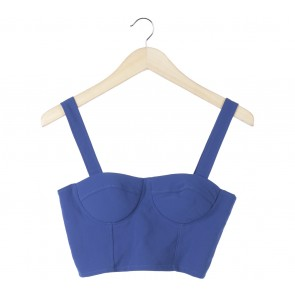 Lookboutiquestore Blue Cropped Sleeveless