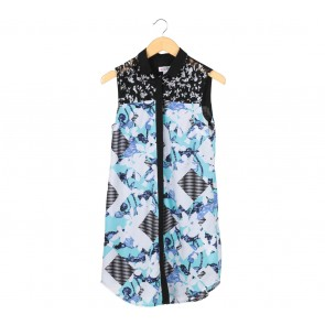 Peter Pilotto Multi Colour Floral Sleeveless Midi Dress