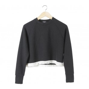 Pomelo. Black Cropped Sweater