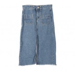 Pomelo. Dark Blue Slit Skirt
