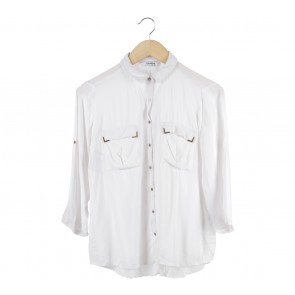 Pull & Bear White Shirt