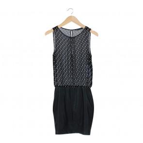 Zara Black Polka Dot Midi Dress