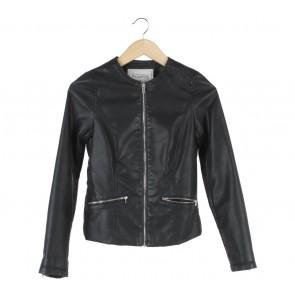Pull & Bear Black Leather Jaket