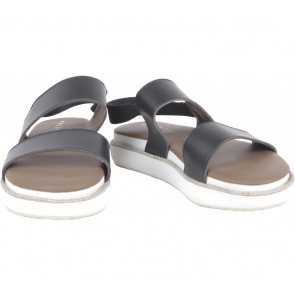 Roepi Black And White Platforn Sandals